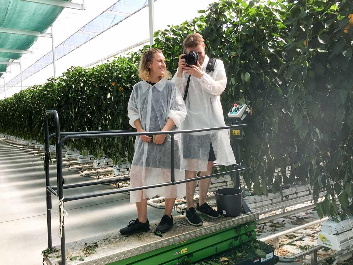Moderne Landwirtschaft Fotoshooting