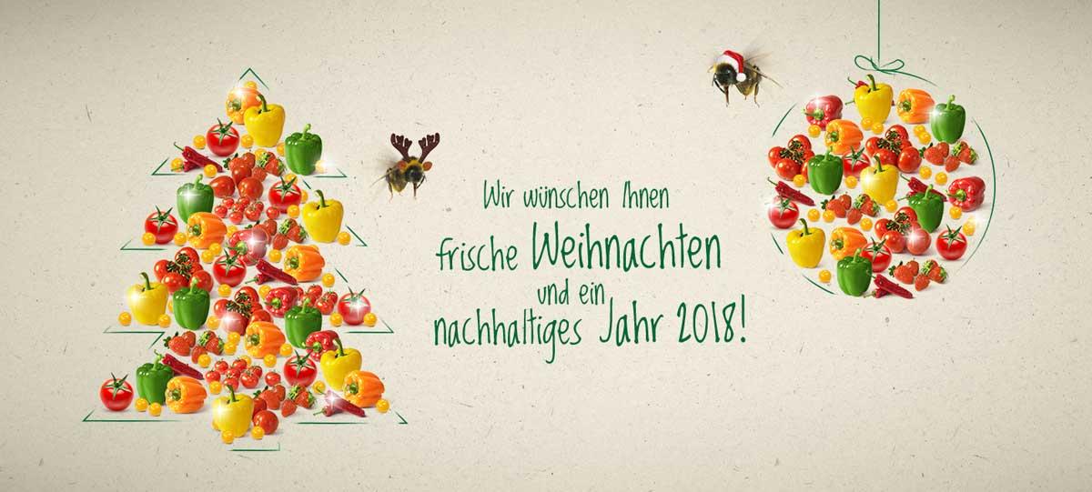 Gemüsebau Steiner wünscht frische Weihnachten und ein nachhaltiges Jahr 2018!